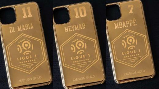 Jugadores del PSG recibirán una funda de oro para el móvil