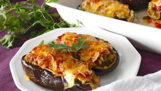 Prepara una Milanesa de berenjena con jamón y queso gratinadas al horno