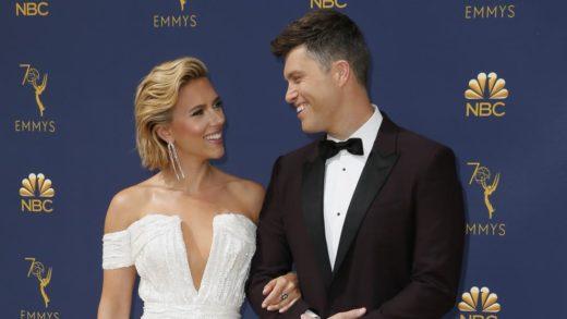 Scarlett Johansson se casó con Colin Jost