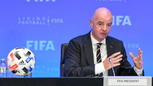 Presidente de la FIFA, Gianni Infantino dio positivo por Covid-19