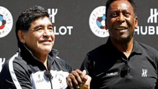 """Pelé lamenta la muerte de Maradona: """"Un día jugaremos juntos en el cielo"""""""