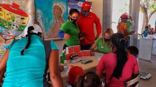 Más de 574 habitantes de Coche fueron atendidos por el Instituto Nacional de Nutrición