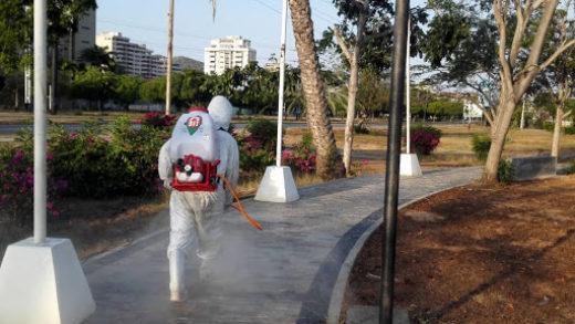 Refuerzan jornadas de desinfección en al menos cinco municipios de Nueva Esparta