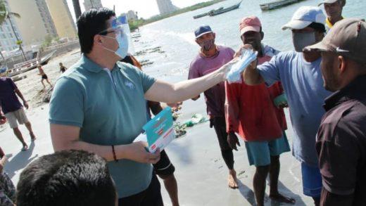 Pecadores del Mercado de Pescadores de Punda y Bella Vista recibieron equipos de bioseguridad