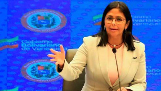 Delcy Rodríguez anuncia que Venezuela producirá la vacuna cubana Abdala