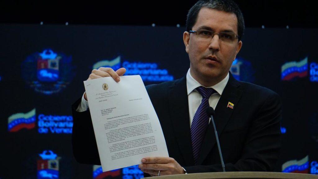 Arreaza pide a la ONU establecer canal de comunicación con Colombia por temas fronterizos