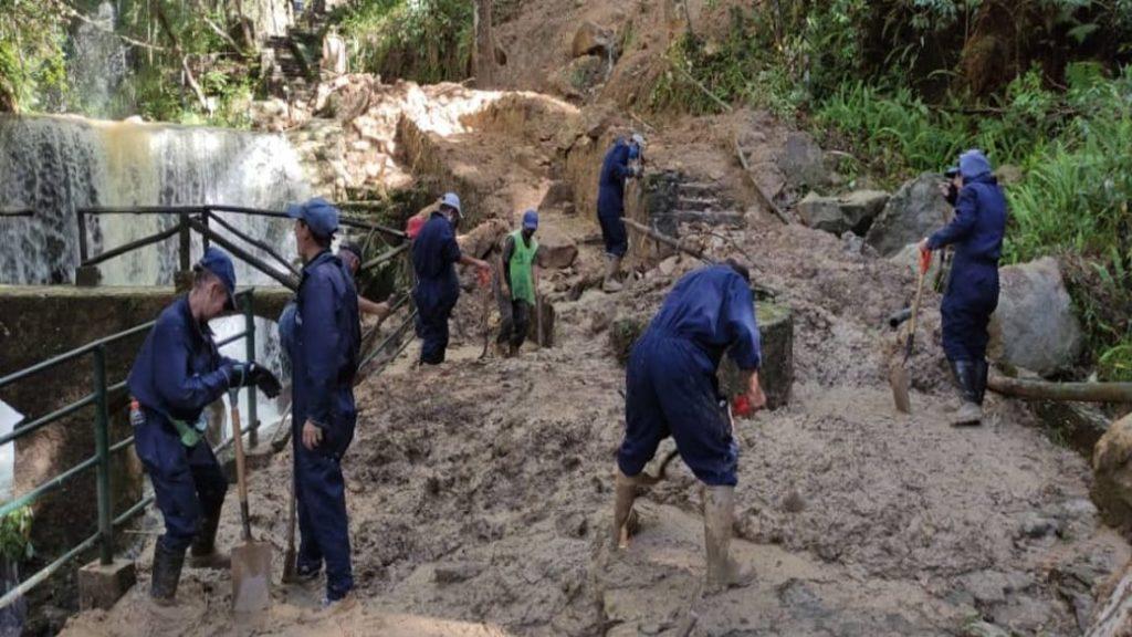 Dos ríos se desbordan en sectores de Mérida por fuertes lluvias