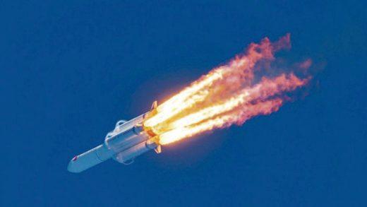 Cohete chino cae en el océano índico y logra desintegrarse exactamente en esta región