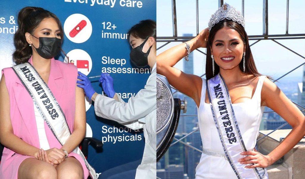 Andrea Meza, Miss Universo recibió vacuna contra el COVID-19
