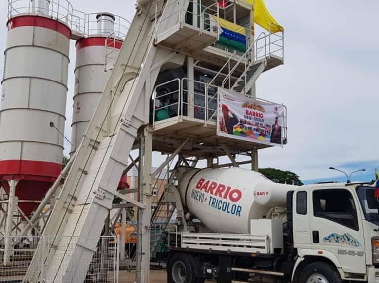 Transfieren planta de mortero húmedo para rehabilitación de viviendas en Nueva Esparta