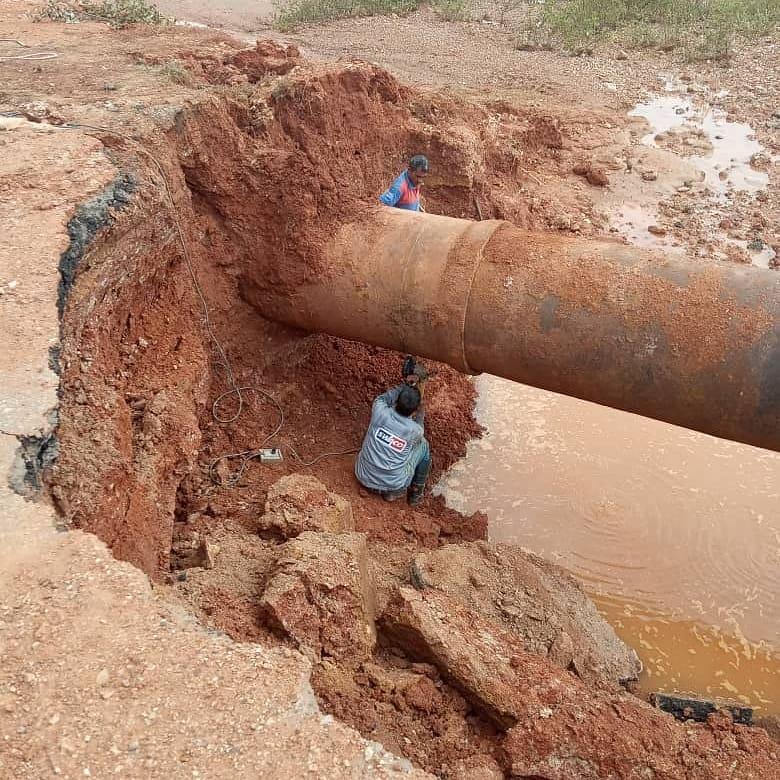 """Hidrocaribe realiza labores de reparación en tubería de 36"""" que surte agua a Nueva Esparta"""