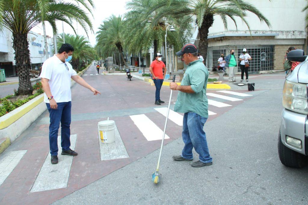 José Antonio González canalizó demarcación del rayado peatonal en avenida Santiago Mariño