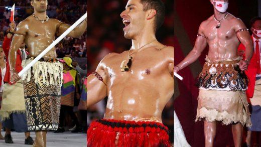 Abanderado de Tonga causa sensación en la ceremonia de apertura de los Juego Olímpicos