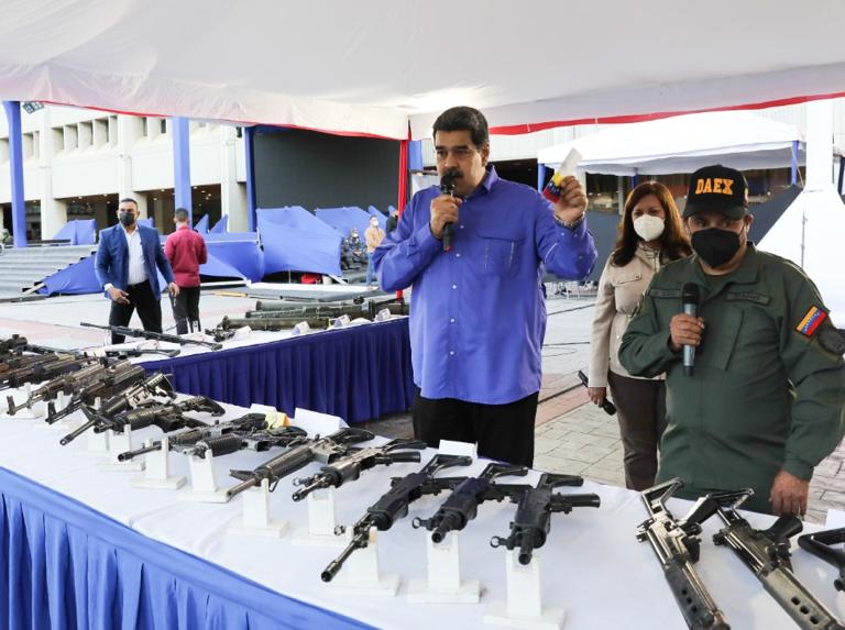 Maduro afirmó que armamento incautado en la Cota 905 proviene de Colombia