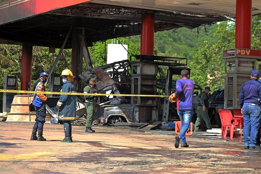 Reportan ocho heridos por explosión en estación de servicio en Anzoátegui