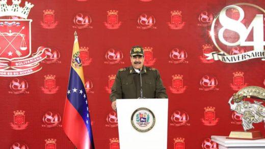 Maduro no asistió al acto por el 84 aniversario de la Guardia Nacional Bolivariana