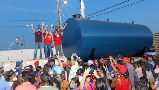 Instalan tanque comunitario para beneficiar a 154 familias de Villa Zoita