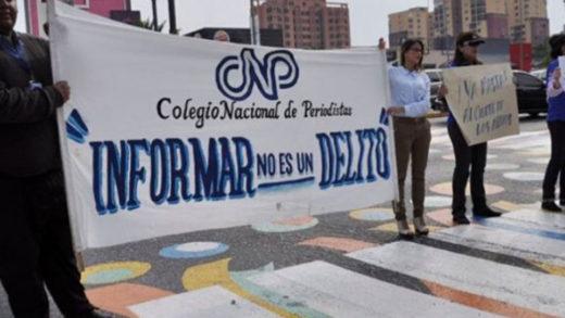 CNP contabiliza 143 ataques a la prensa en lo que va de año
