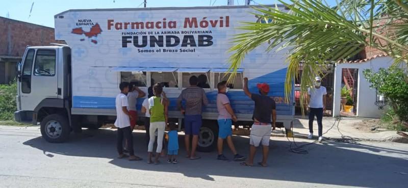 Farmacia Móvil de la Armada Bolivariana se desplegó en sectores de Mariño