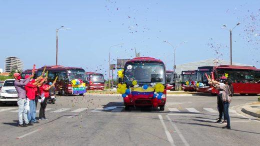 Entregan 12 unidades nuevas de autobuses para fortalecer la flota de Bus Margarita