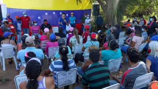 Candidatos Dante Rivas y Cruz Lairet recorren las comunidades de García