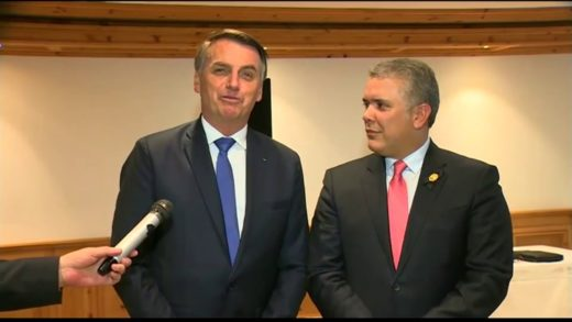 Bolsonaro recibe con honores a Iván Duque en Brasilia este #19Oct